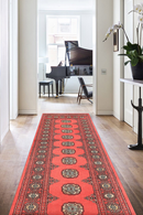 2' 6 x 11' Hand-knotted Pakistani Wool Bokhara Oriental Rug Salmon 45722, {product_vendor}