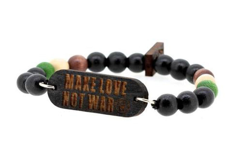 Bijoux homme, Bracelet swag make love not war