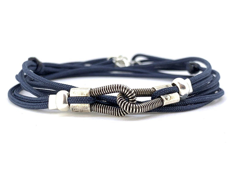 bracelet you & me 3 tours bleu