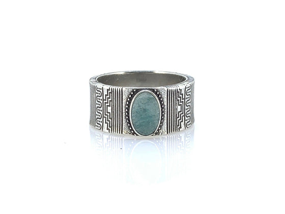 Bague R.3 amazonite hënko paris