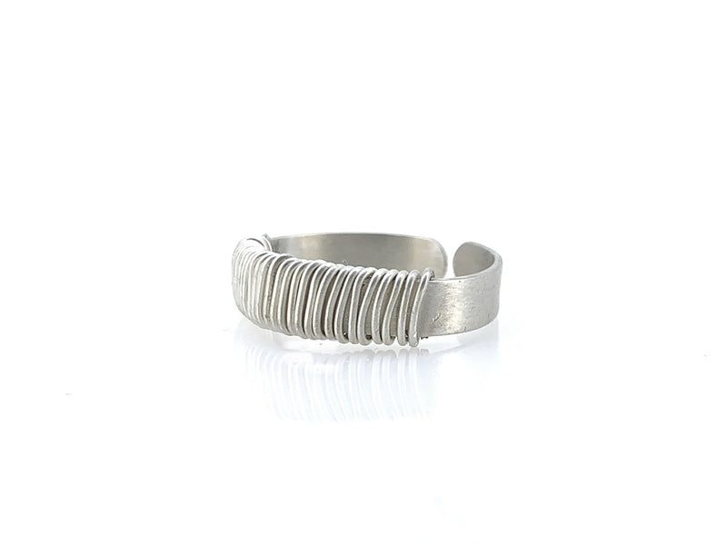 bague homme argent twisted lsonge
