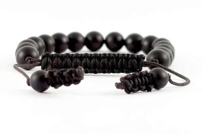 Bracelet tibétain homme Deep black