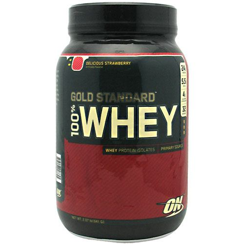 Optimum Nutrition Gold Standard 100% Whey - Delicious Strawberry - 2 lb - 748927028645