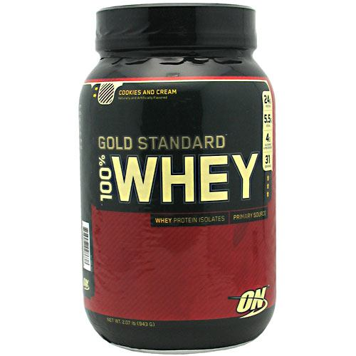 Optimum Nutrition Gold Standard 100% Whey - Cookies N Cream - 2 lb - 748927028638