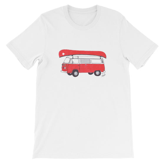 """Canadian Camping"" - Unisex Short Sleeve Tee"