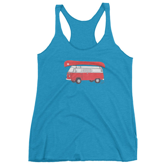 """Commemorative Canadian National Parks Tee"" - Women's Racerback Tank Top"