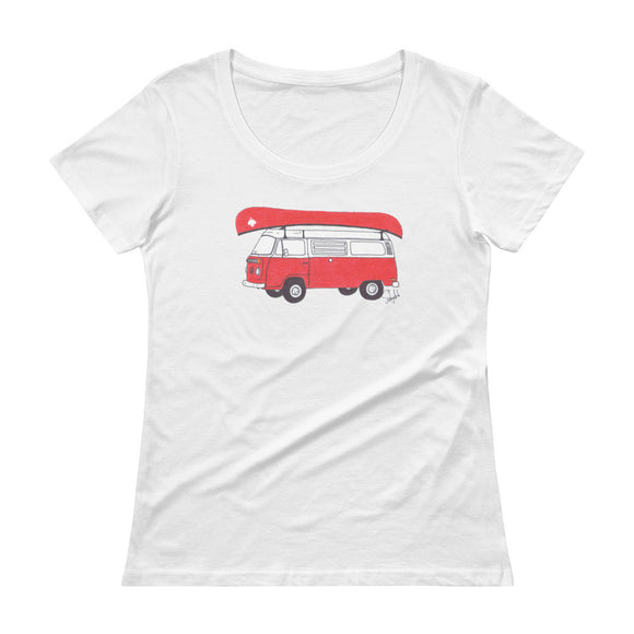 """Canadian Camping"" - Ladies' Scoopneck Tee"