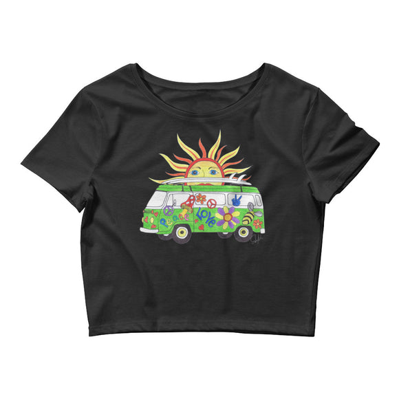 """Hippie Sun"" - Women's Crop Tee"