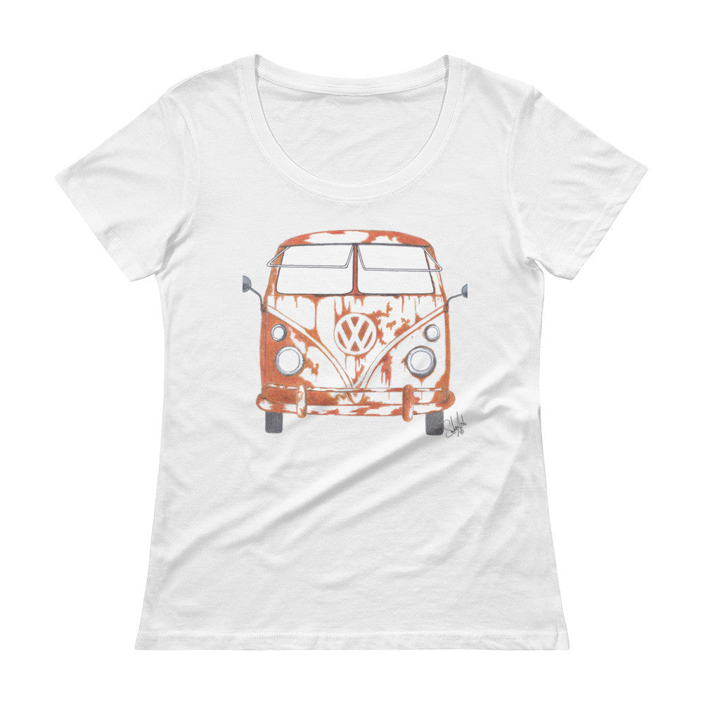 """Rusty"" - Ladies' Scoopneck Tee"