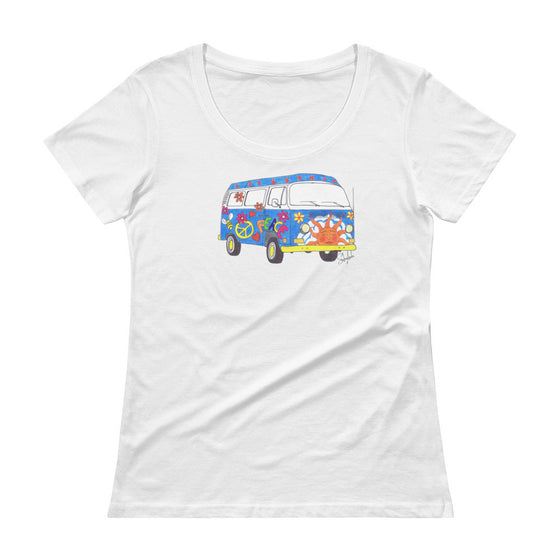 """Woodstock"" - Ladies' Scoopneck Tee"