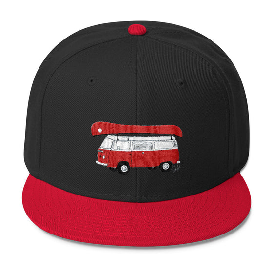 """Canadian Camping"" - Wool Blend Snapback"