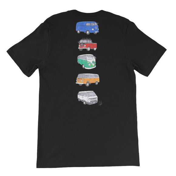 """Evolution of VW"" - Unisex Short Sleeve Tee"