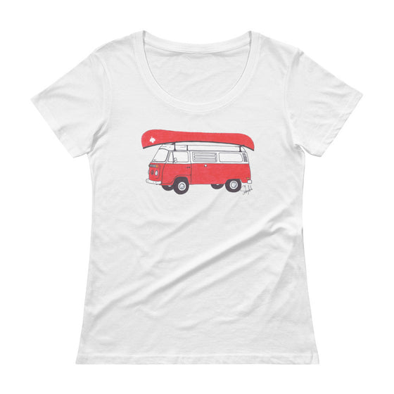 """Commemorative Canadian National Parks Tee"" - Ladies' Scoopneck Tee"
