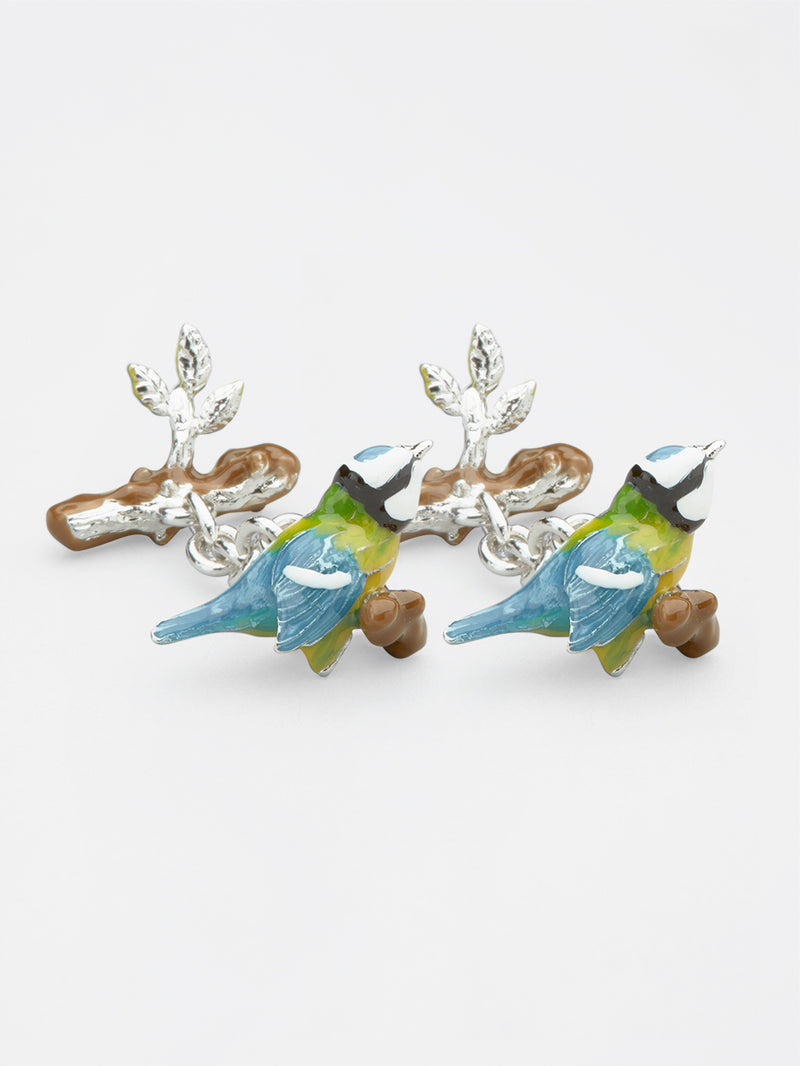 Song Bird Cufflink Blue