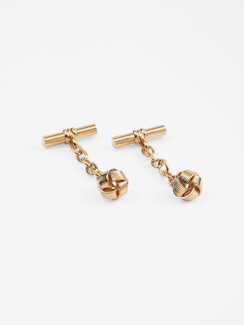 Knot Cufflinks Yellow