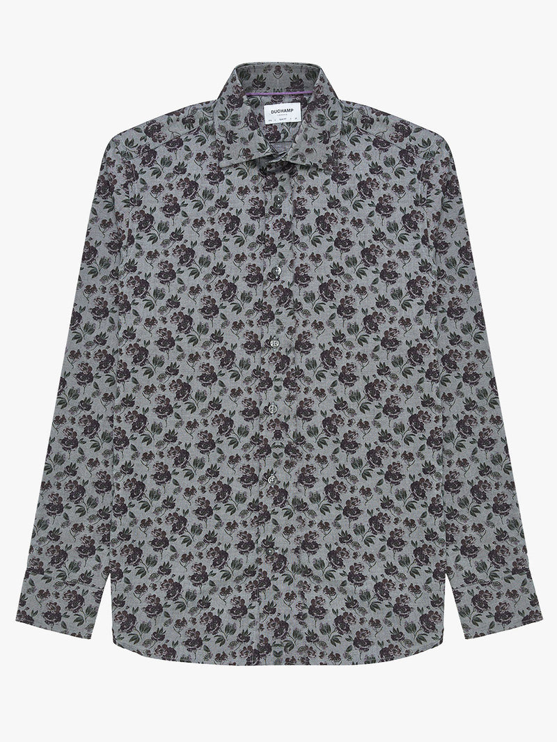 Rose-Floral-Print-Shirt-Grey