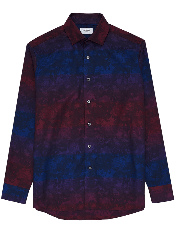 Degrade Floral Shirt Burgundy