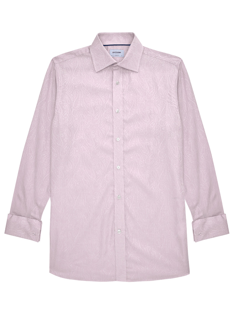Hand Drawn Paisley Shirt Pink