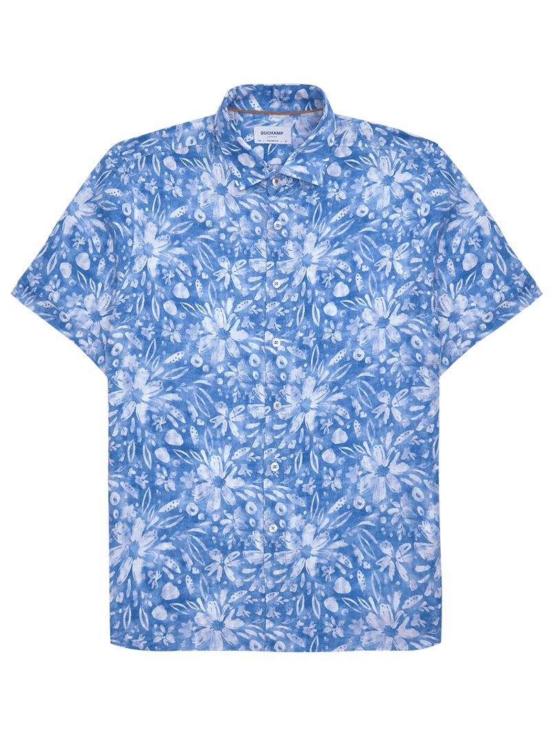 blue mens luxury shirt