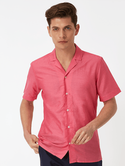 Bright Plain Shirt Pink