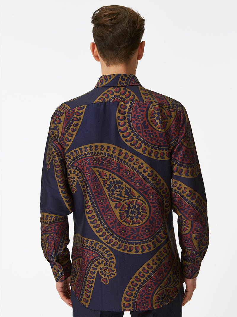 Massive Paisley Shirt Orange