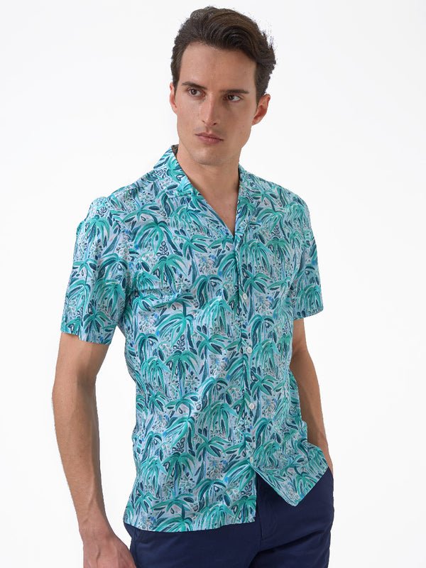 Tropical-Shirt-Green