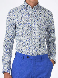 Playing Cards Print Shirt Blue