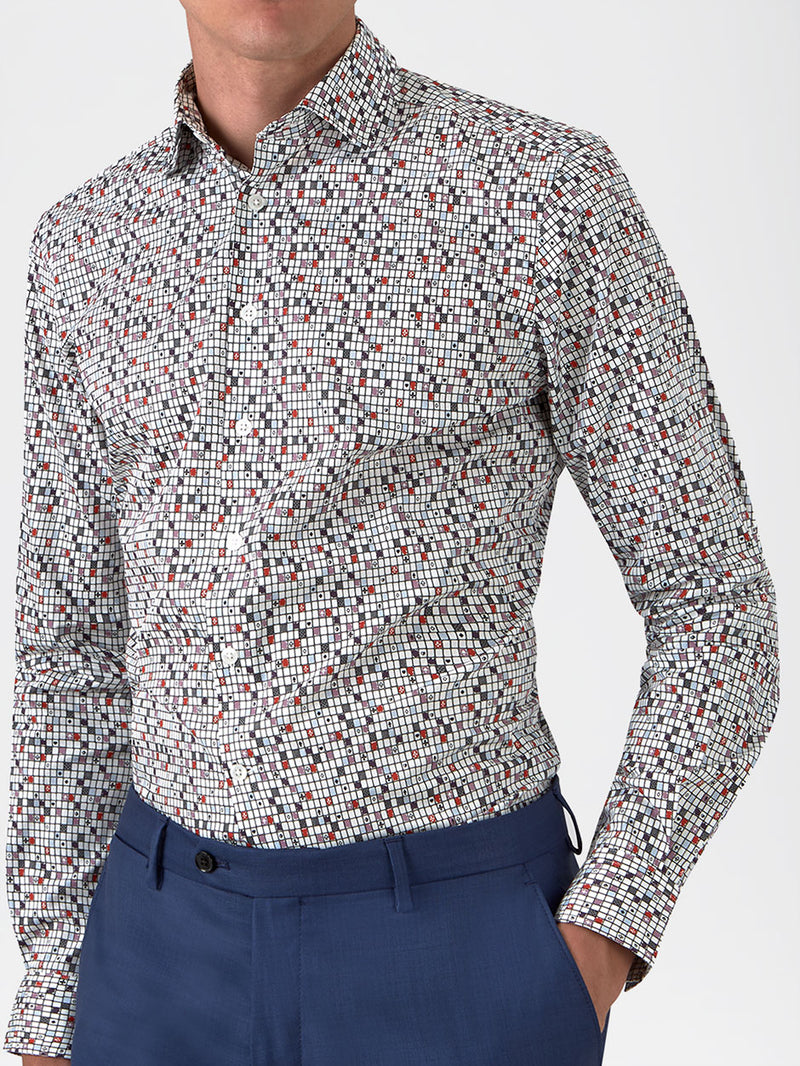 Playing Cards Print Shirt Pink