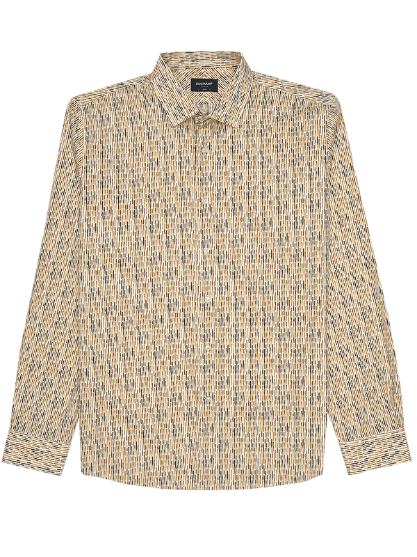 Dash Print Shirt Yellow