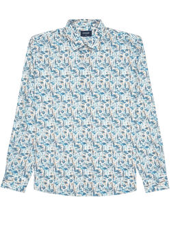 Aster Floral Print Shirt White