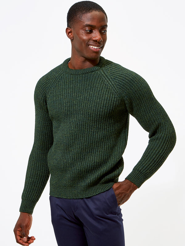 British Wool Heavy Weight Jumper Green