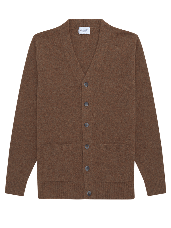 Lambswool Cardigan Brown