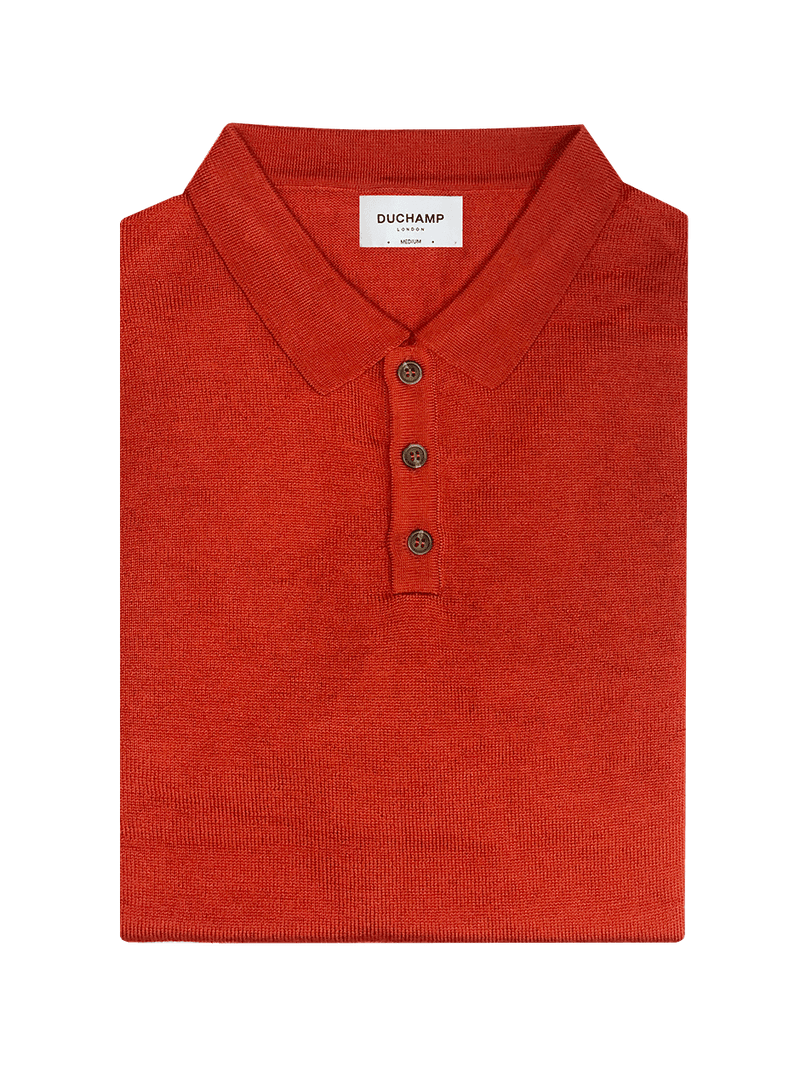 Mens-Poloshirt-Orange