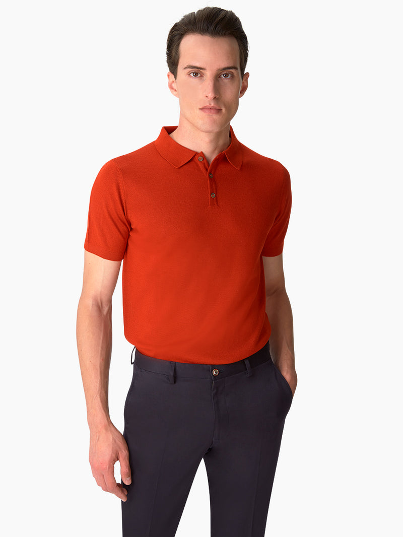 Extra-Fine-Merino-Wool-Poloshirt-Orange