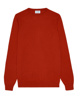 Extra Fine Merino Wool Crew Neck Orange