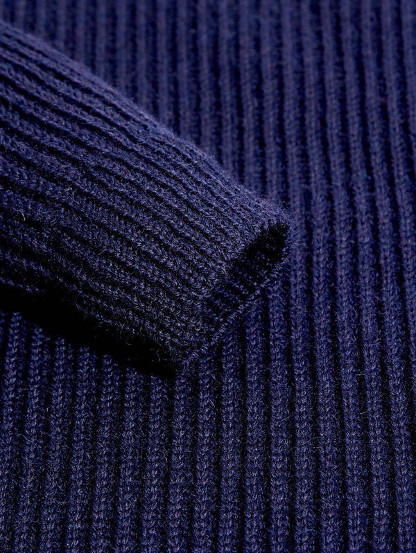 Chunky Knit Shooting Jumper Navy