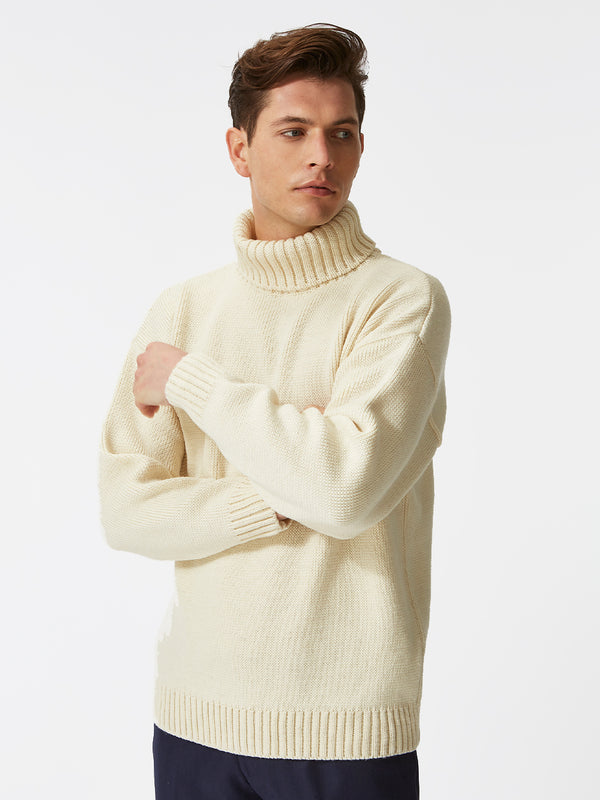 Submariner Merino Wool Jumper White