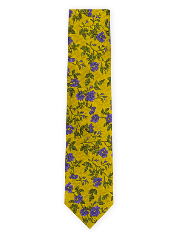 Rose-Garden-Floral-Tie-Yellow
