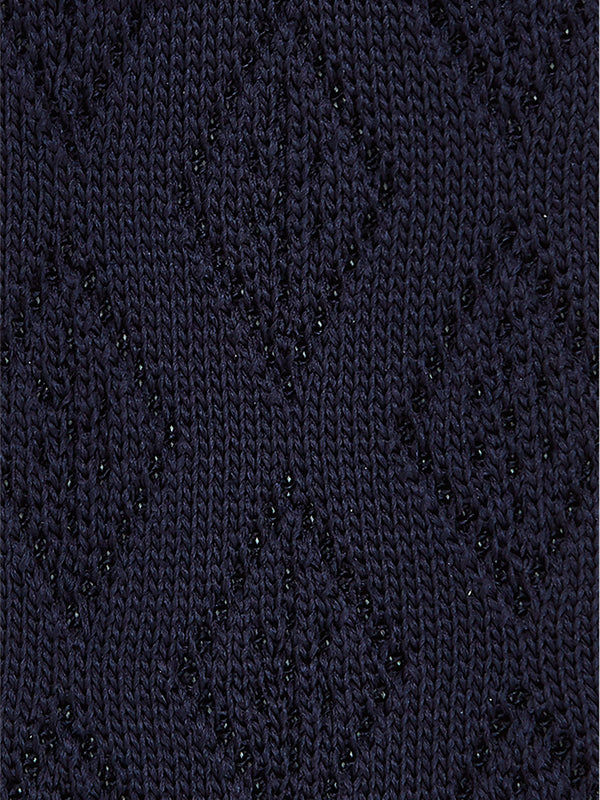 Diamond Plain Knitted Tie Navy