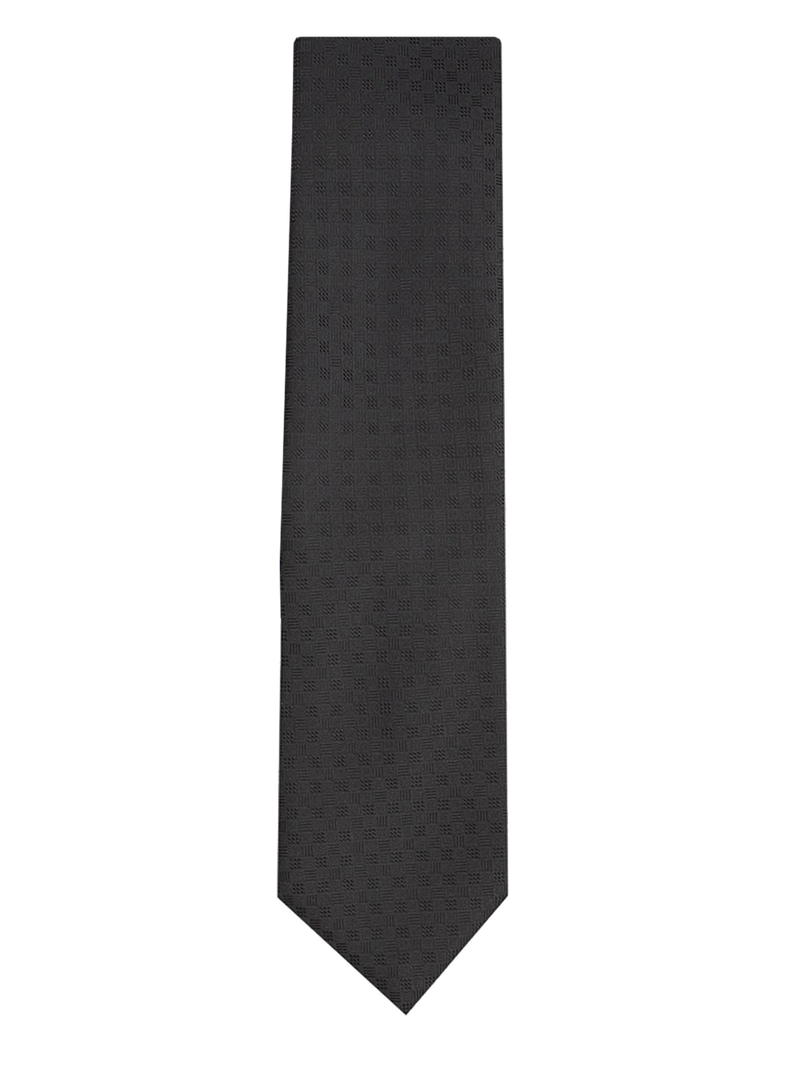 Textured Geometric Tie Black