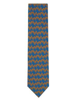 Wave Stripe Tie Yellow