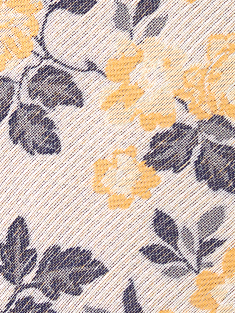 Allium Floral Tie Yellow