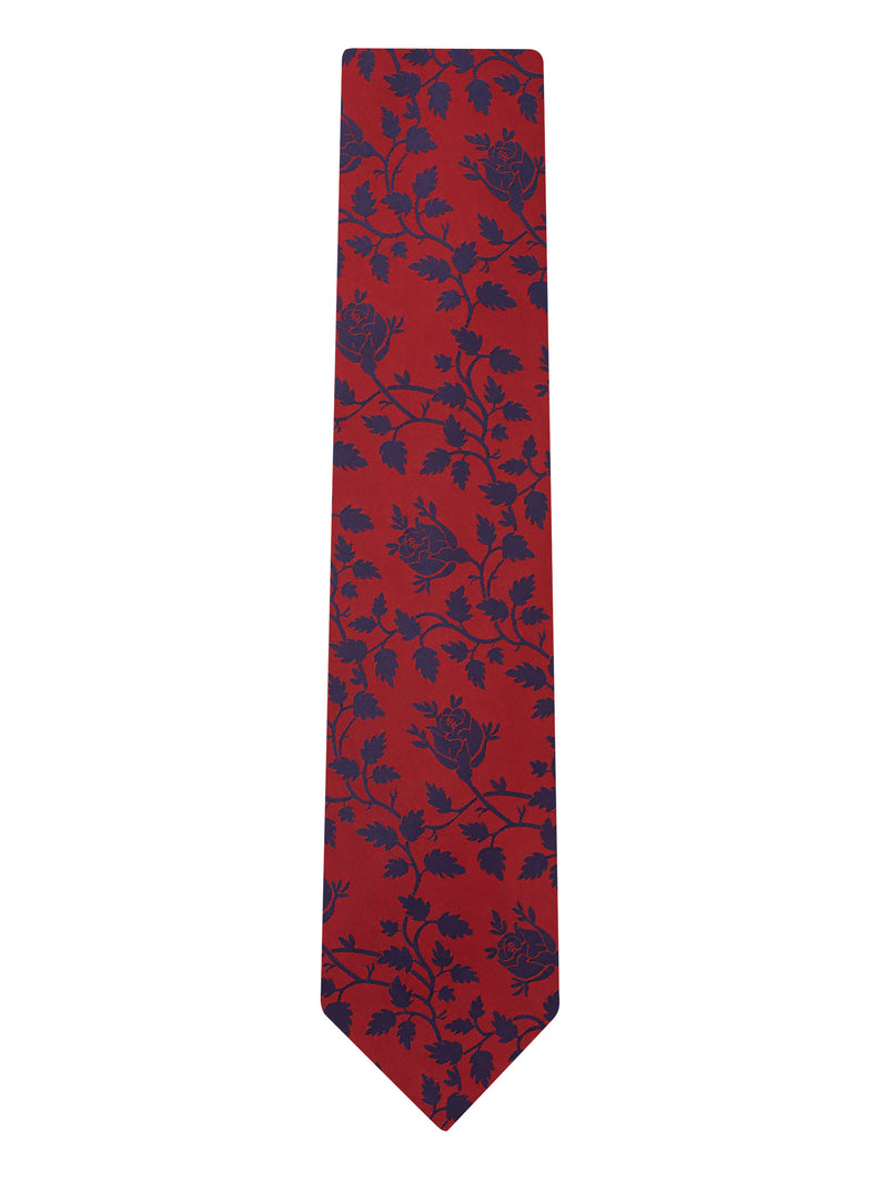 Balloon Floral Tie Red