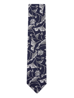Butter Cup Floral Tie Navy