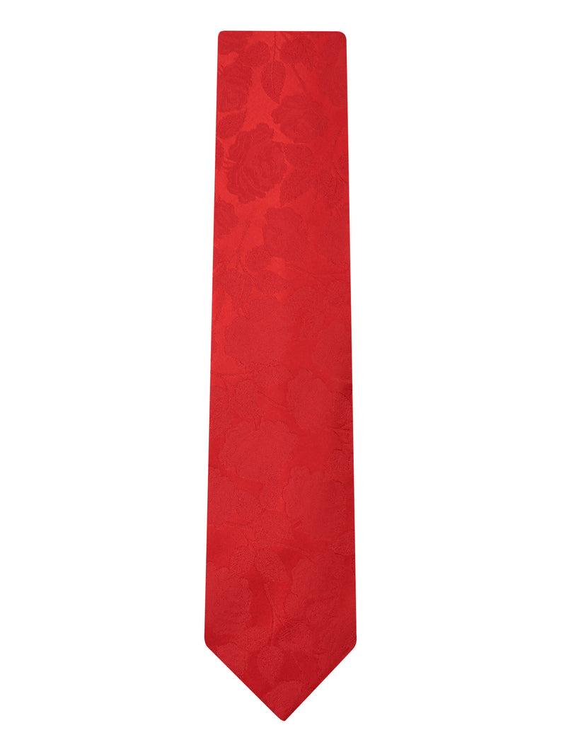 Large Rose Plain Tie Red