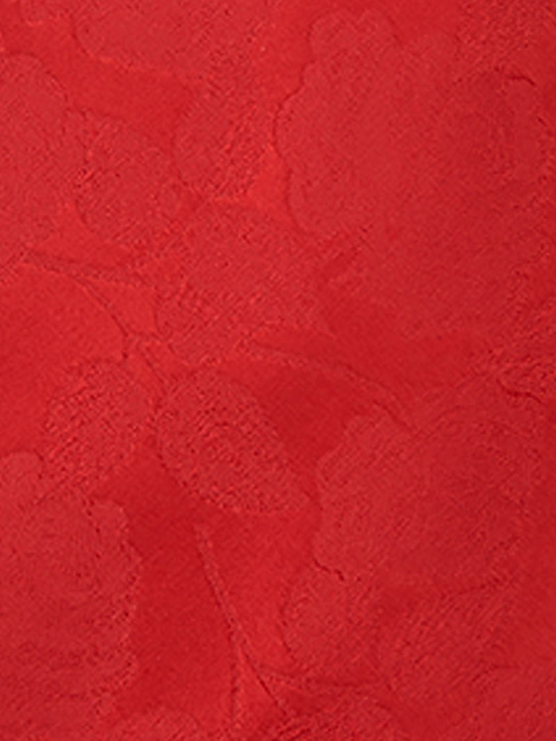 Large Rose Plain Pocket Square Red