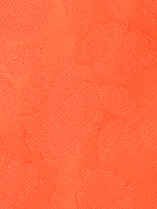Large Rose Plain Tie Orange