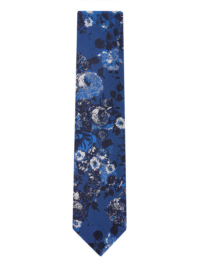 California Bouquet Tie Blue