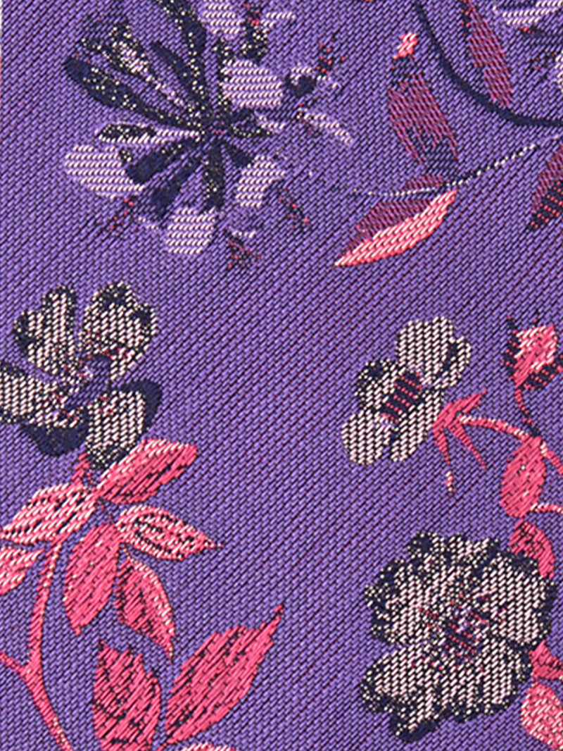 Primrose Bouquet Tie Purple