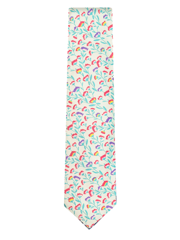 Norma Floral Tie White